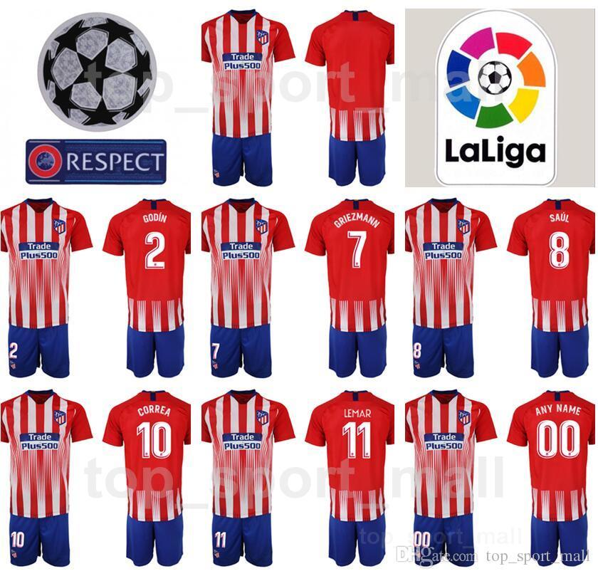 e4fa31cb22c ... discount info for 062ef e8c9f youth atletico madrid jersey set fc la  liga soccer kids griezmann