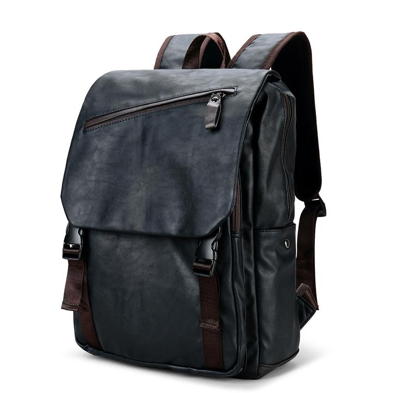 040bfe523c3f 2018 Vintage Men S Leather Laptop Backpack Male Luggage Bag Casual School Bags  Men Casual Daypacks Leather Travel Backpack School Backpacks Cool Backpacks  ...