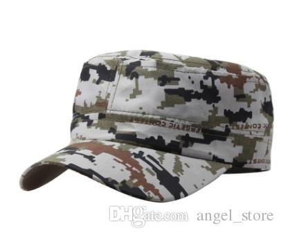 9193723d7ae The US Air Force Flat Camouflage Cap Men Fitted Hat Cotton Army Snapback  Caps Five Pointed Star Bone Gorra Hatland Brixton Hats From Angel store