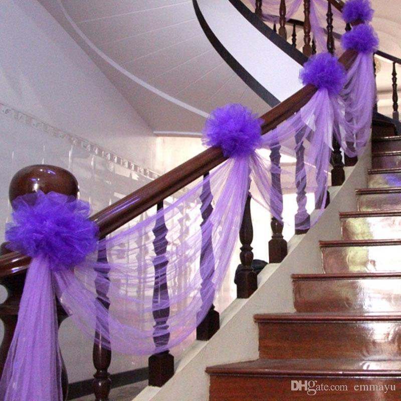 ful stair handrails soft net yarn fabric spool tulle road leading rh dhgate com