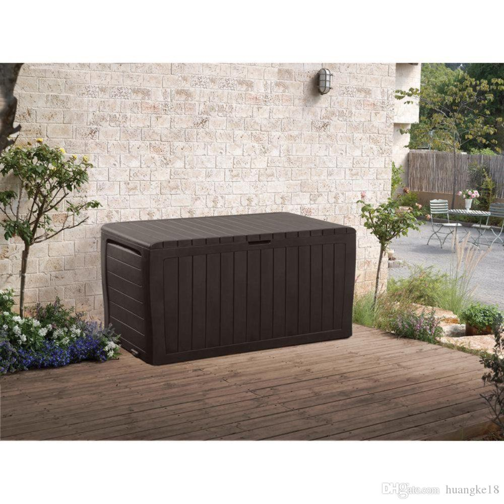 2018 Keter Marvel Plus 71 Gallon All Weather Outdoor Storage Deck