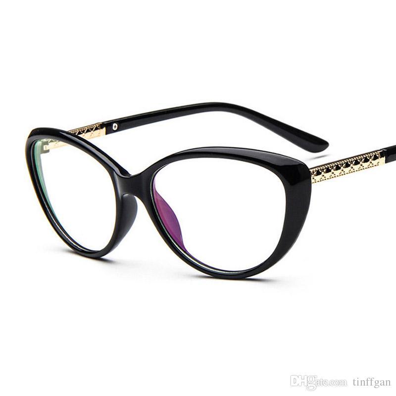 4b3bba4dcc3 2018 New Coating Lens Anti Radiation Eyeglasses Frame Men Women Fashion  Cat S Eye Optical Plain Mirror Eye Glasses Frames For Myopia Glasses  Colorful ...