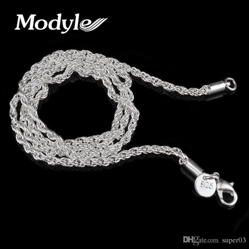 52e1d6bed0203 Acheter Modyle 3mm Collier À Cordes, Gros Bijoux Fantaisie Pendentifs En  Argent Plaqué En Bijoux En Colliers De $0.6 Du Super03 | Dhgate.Com