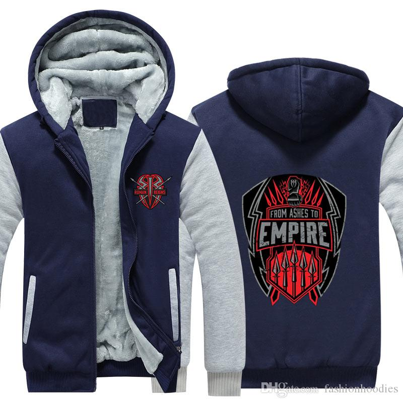 b1dd7bd59 Balor Club Roman Reigns Mens Zipper Cashmere Hoodie Sweatshirt Fleece  Thicken Jacket Coat From Ashes to Empire Design Long Sleeve tracksuit