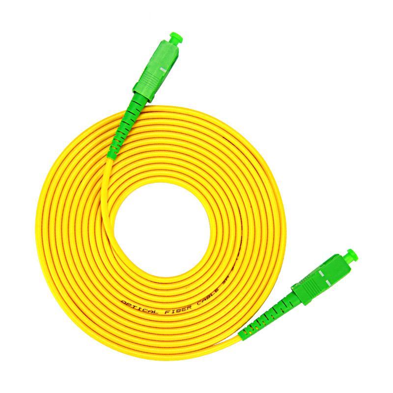 Free Shipping SM SX PVC 3mm 10 Meters Fiber Optic Jumper Cable  SC/APC-SC/APC Fiber Optic Patch Cord