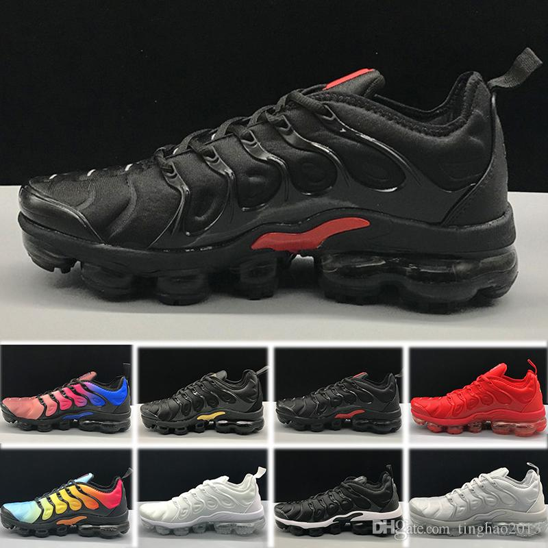 536485298dda4 Compre Nike Air Vapormax Tn Zebra Ormax Tn Plus Shoes Zapatos Para Hombre  Triple Black Negro Rojo Cool Gray Para Correr Male Shoe Pack Triple Black  Zapatos ...