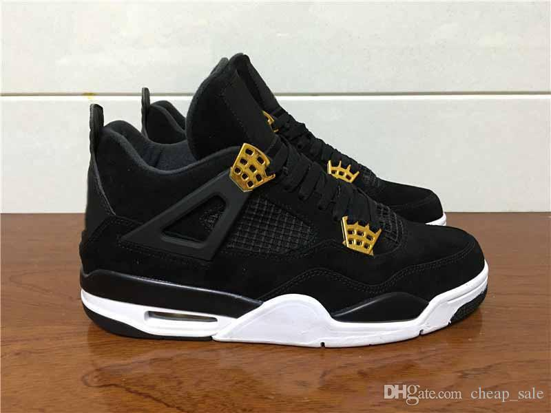 eec16f7e593698 With Box 4 4s Men Women Basketball Shoes Royalty Black Gold Mens Athletic  Outdoor Shoes Sport Shoes Sneakers Us 8 13 Loafers For Men Mens Loafers  From ...