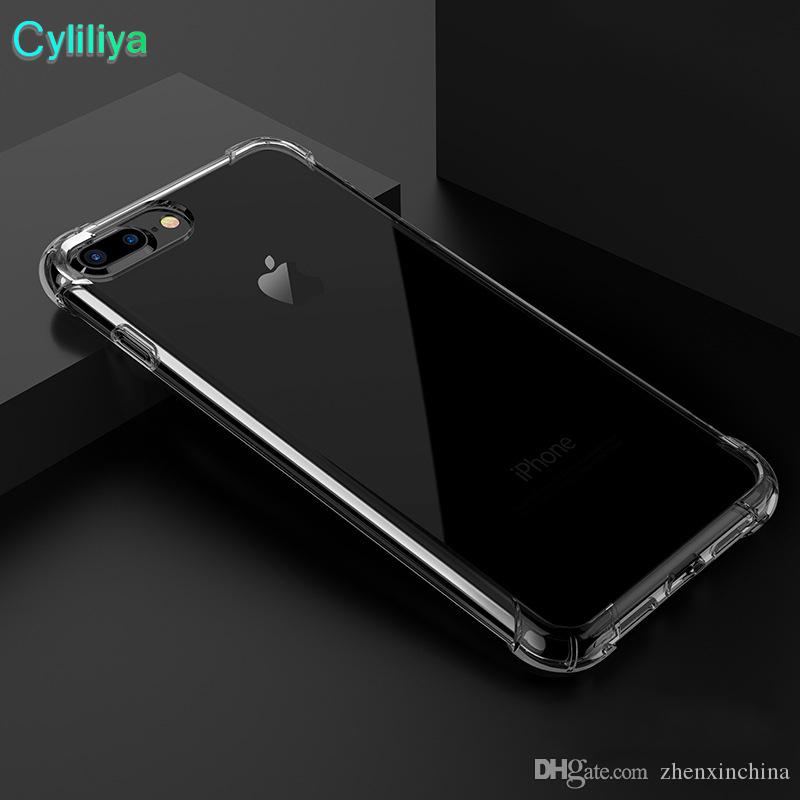 Livre post Anti-knock Macio TPU Transparente Limpar Phone Case Proteger Capa Casos Macios À Prova de Choque para iphone 6 6 7 8 plus x samsung s8 s9 note8