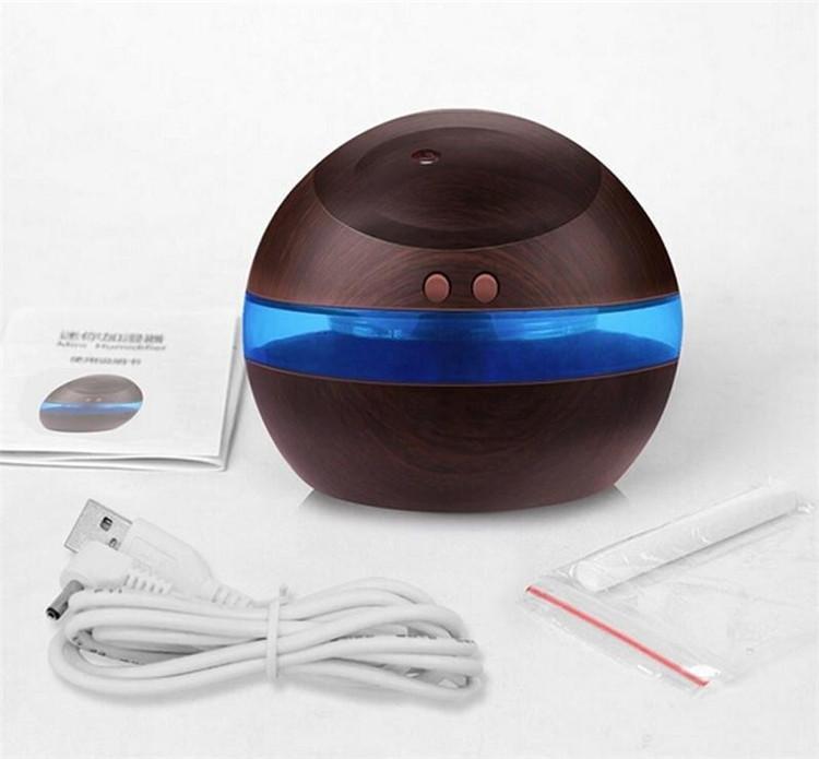 Großhandel 300 ml USB Ultraschall-luftbefeuchter Aroma Diffusor Ätherisches Öl Diffusor Aromatherapie nebelhersteller mit Blaues LED-Licht Freies verschiffen