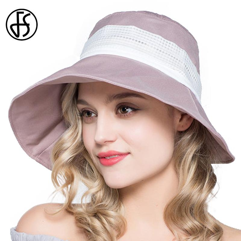 FS Lady Bow Beach Visor Hat Wide Brim UV Protect Summer Foldable Sun Hats  For Women Outdoor Travel Cap Pink Blue Gray Brown Winter Hats For Women Beach  Hats ... 9eedb8d21fec
