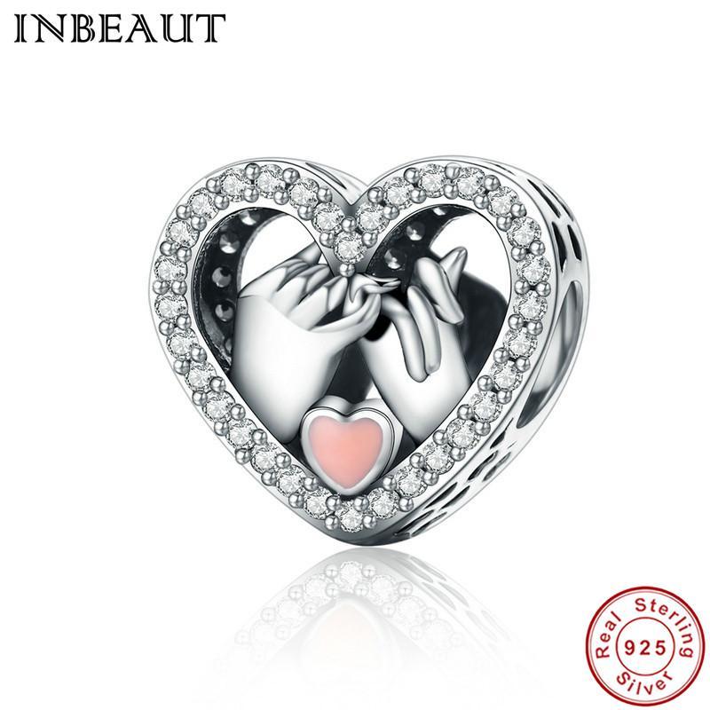 INBEAUT Women Wedding Bracelets 925 Sterling Silver Clear CZ Pink Love  Heart-shaped Charm Fit Pandora Bracelet Valentine Gift Online with   23.84 Piece on ... 2ea906d2317f