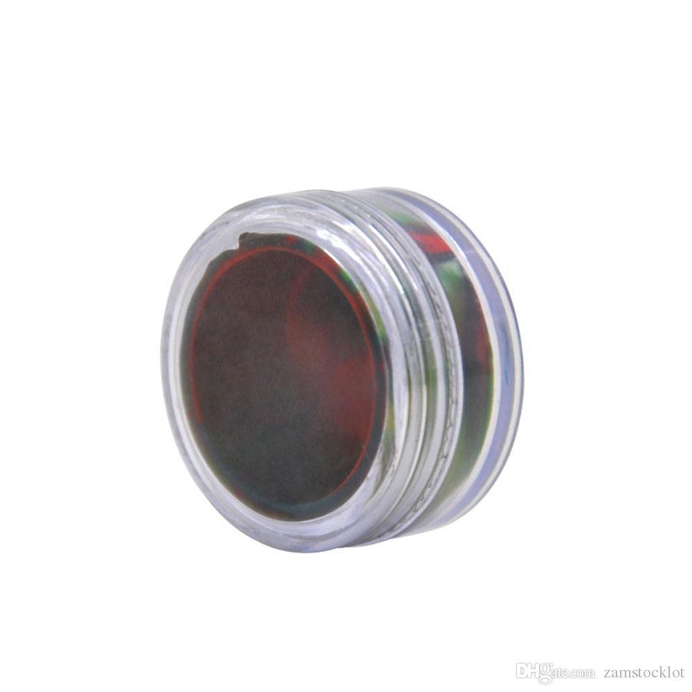 02d1aa9f480f 5ML Acrylic & Silicone Wax Oil Cream Jar Concentrate Container Non Stick  Wax Oil Cream Jar Dab or Silicone oil jars