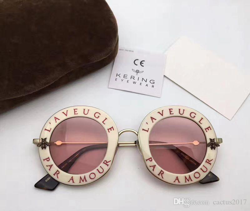 876f7e8aec9 Brand Bee Designer Sunglasses Women Luxury Sunglasses Pink Fashion ...
