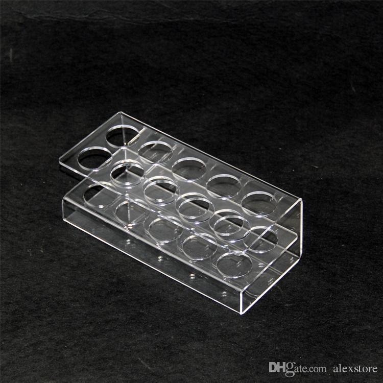 Pantalla de acrílico soporte transparente estante soporte vape rack vitrina para 10 piezas o 16 piezas botellas de plástico de 60 ml e líquido eJuice DHL