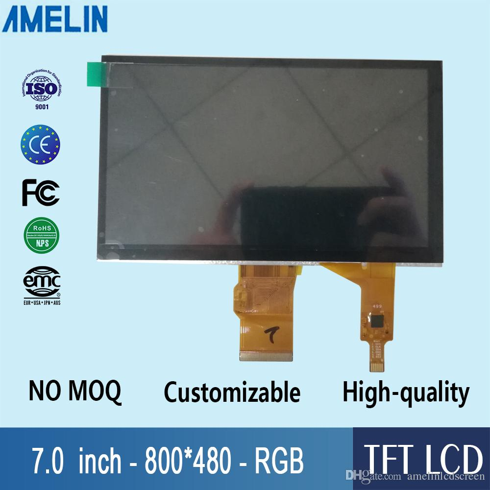 7 inch 800*480 TFT LCD module display with RGB-24BIT interface capacitive touch panel and EK9716 Driver IC screen