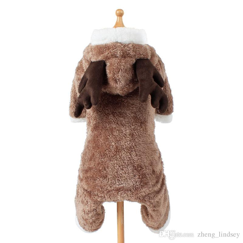 elk turned pet coat apparel clothes four legs clothing hoodie dog coat jacket pet costumes for Teddy pet