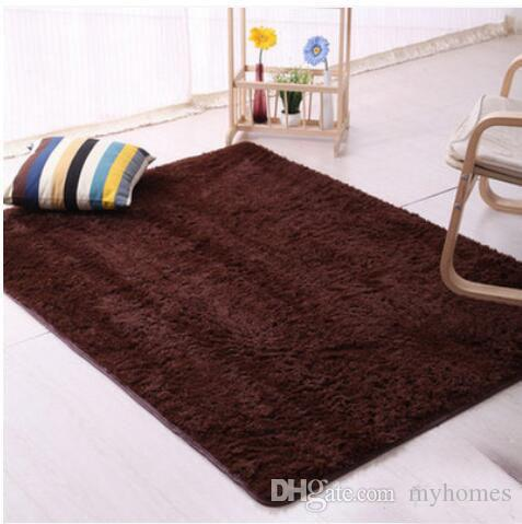 Fluffy Rugs European Style Anti-Skid Shaggy Area Rug Dining Room Home Bedroom Carpet Floor Mat Can Be Customized