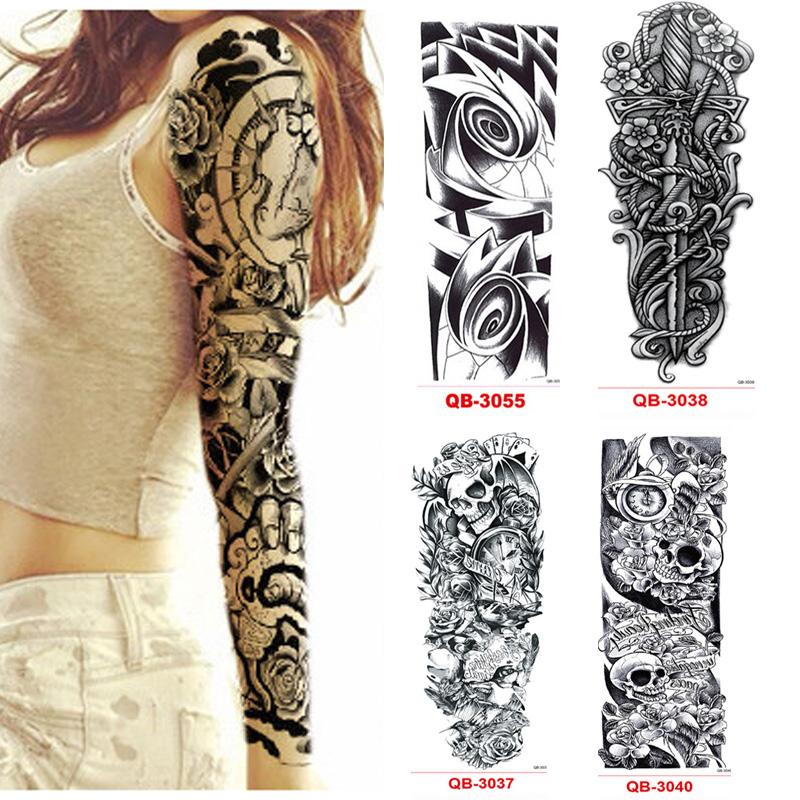 Tattoo Design Your Own Free: Temporary Tattoo Sleeve Waterproof Tattoos For Men Women