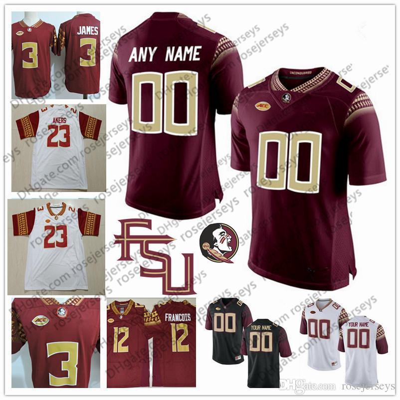Custom Florida State Seminoles College Football 2018 FSU White Red Black  Stitched Any Name Number 23 Cam Akers 12 Deondre Francois Jersey UK 2019  From ... 96c9778cf