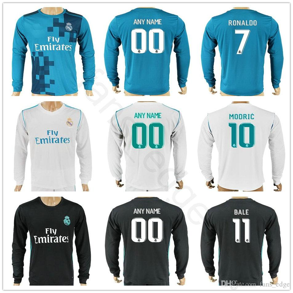 new arrivals 4b61b bc33d real madrid black jersey long sleeve