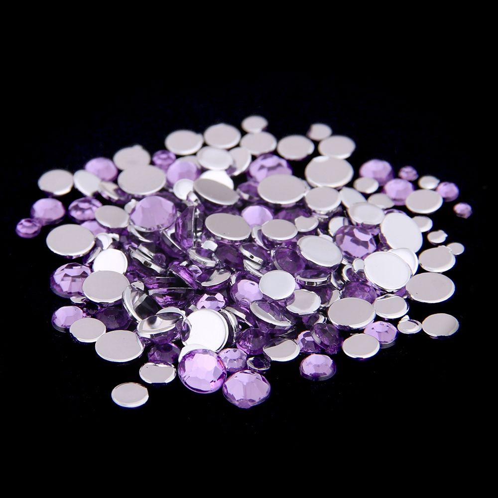 Many Sizes Light purple Color Acrylic Rhinestones hoes Shining Nail Art Decorations Clothing Decorations