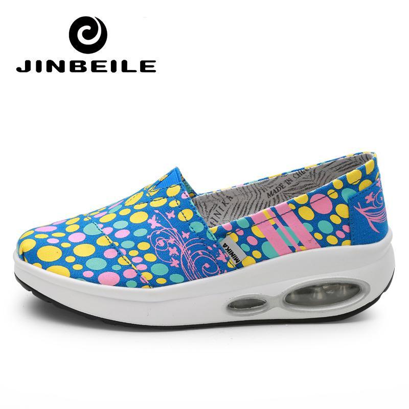 wholesale dealer f3f1a eb20e Acheter Baskets Compensées De La Plate Forme D été Chaussures Chaussures  Minceur De  36.73 Du Ekuanfeng   DHgate.Com