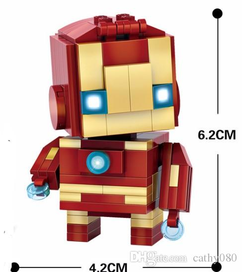 figurines super-héros Avengers Ironman Hulk Captain America Thor mini-figurines Blocs de construction Ensembles enfants jouet Briques