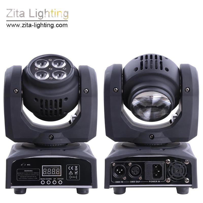 Zita Lighting LED Moving Head Lights Mini Double Side Zoom Stage Lighting 4X10W Wash 1X10W Beam DMX Infinite Rotating DJ Disco Party Effect