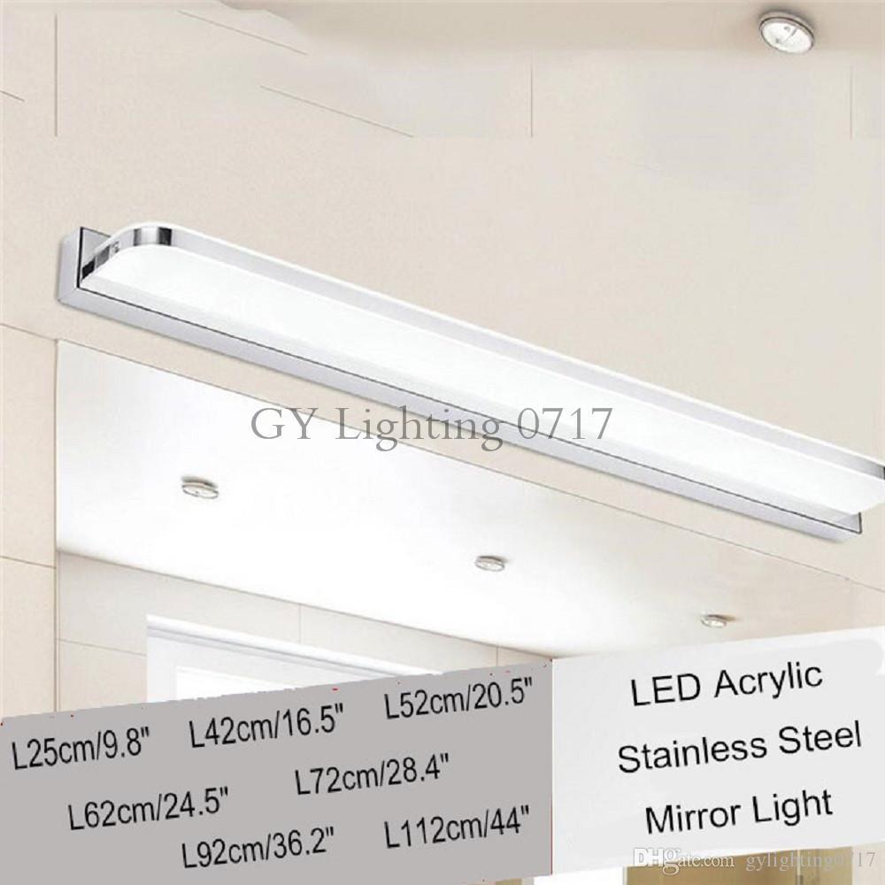 2018 L25/42/52/62/72/92/112cm Modern Acrylic Led Mirror Light ...