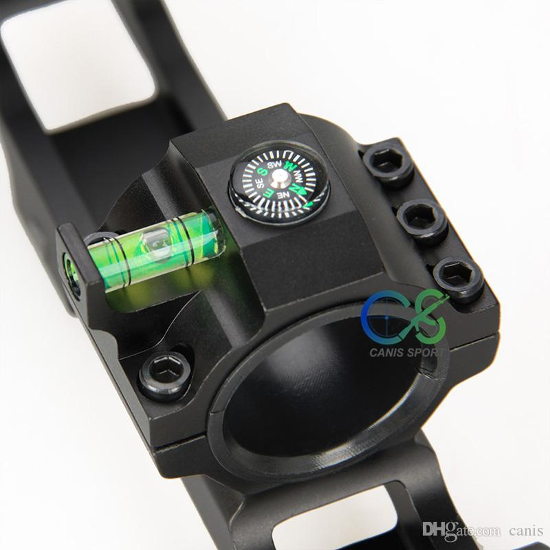 Rifle Double Ring Scope Mount Black Color Diameter 1inch or 1.18inch with Bubble Level Fits 21.2mm CL24-0203
