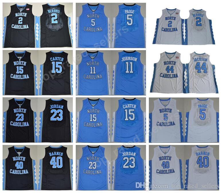 12b06110cabcfa Men Basketball 15 Vince Carter College Jerseys North Carolina Tar Heels 40  Harrison Barnes 11 Brice Johnson 23 Michael 2 Joel Berry II Carter College  ...