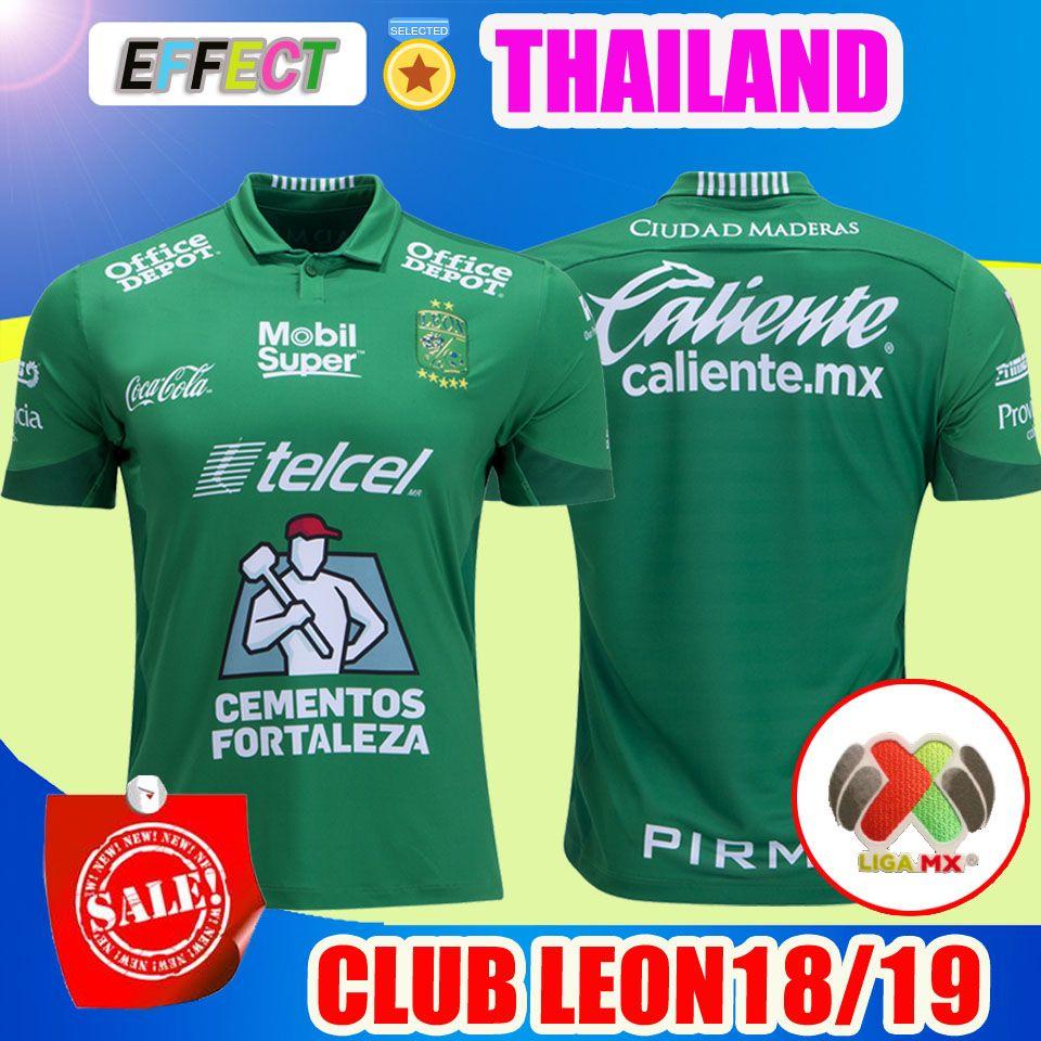 2018 2019 Mexico Club LEON FC Camiseta De Fútbol Casa Verde Necaxa 18 19  LIGA MX Camisetas De Fútbol Parches Gratis Tamaño S XXL Por Effectsports f26796bbbf1