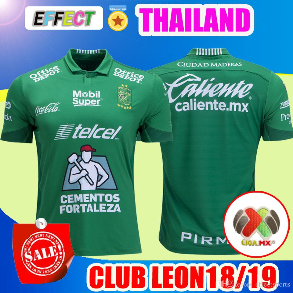 2018 2019 Mexico Club LEON FC Soccer Jersey Home Green Necaxa 18 19 LIGA MX  Football Shirts Free Patchs Size S XXL UK 2019 From Effectsports 9ff7f263f