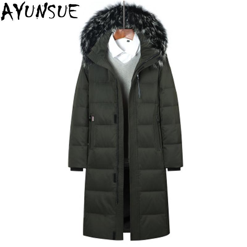 Großhandel AYUNSUE Herren Winter Daunenmantel Warme Dicke Winddichte Parka  2018 Plus Größe 5XL 6XL X Lange 90% Ente Daunenjacke Outwear Tops LX2442  Von ... 7236cacb03