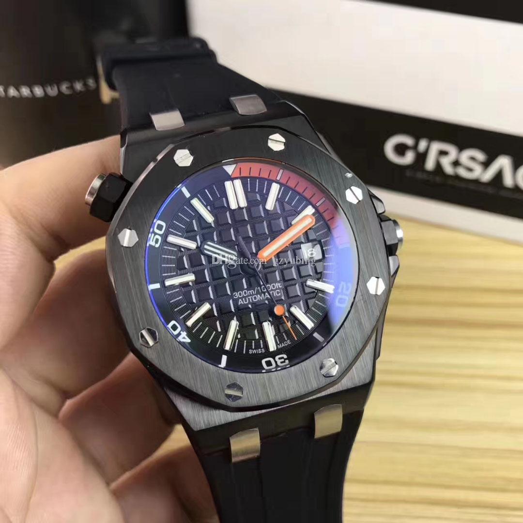 Aço inoxidável melhor qualidade Real Oaky Montres De Luxo Reloj De Lujo Mecânica Automatic Movimento Homens Homens Relógios de pulso
