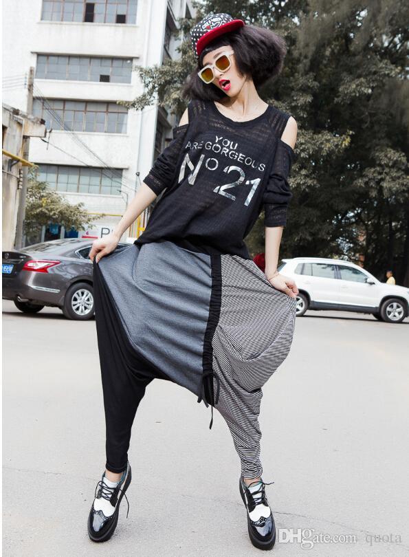 Pantalon de femme à la mode printemps et gris à la mode