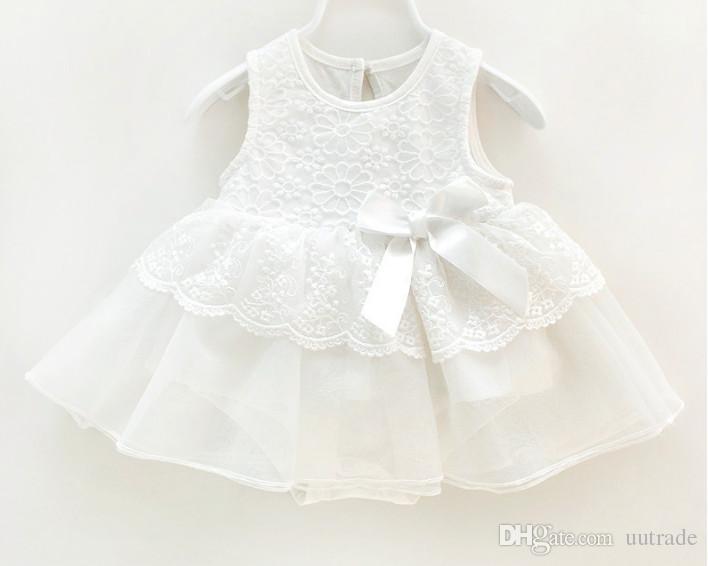 7593838ebbd89 2019 Baby Girls Summer Lace Vest Romper Dress 2018 Baby 0 12M Infant  Princess Party Veil Tutu Dress Children'S Dresses Kids Clothing From  Uutrade, ...