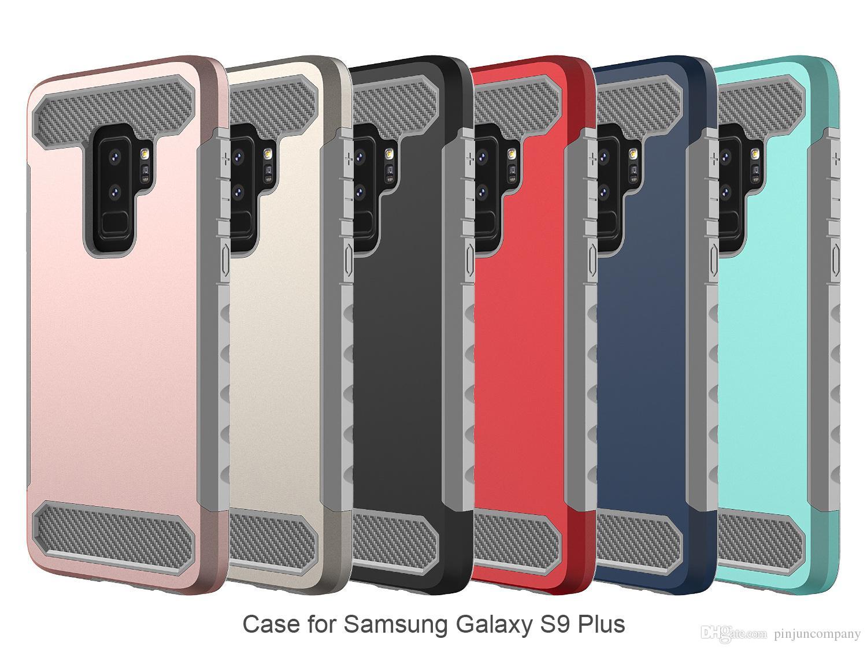 29bc1a32425 Diseños De Carcasas Para Celulares Para El Samsung Galaxy A8 2018 A5 2018  Hybrid Armor Case Para Samsung Galaxy S9 PLUS Fibra De Carbono TPU +  Cubierta Del ...