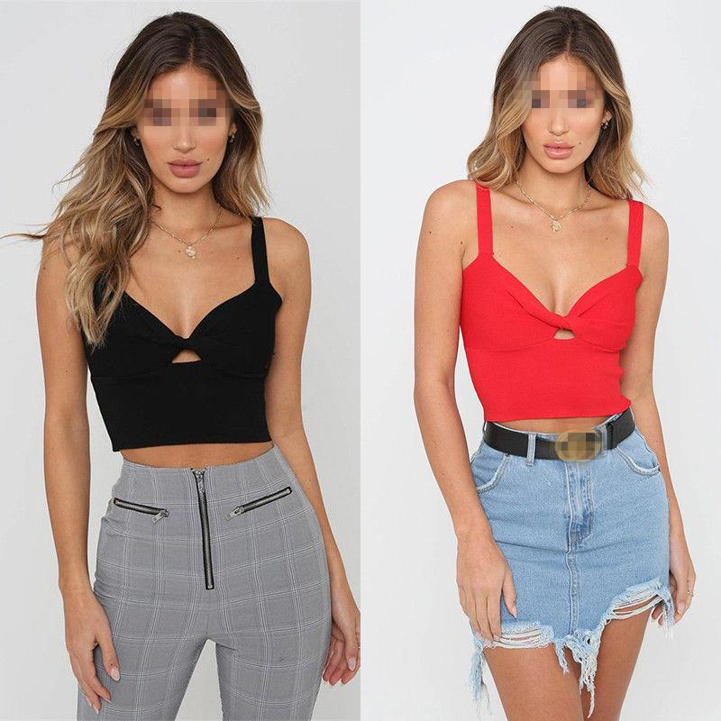 Camis New Summer Women Casual Tank Top Vest Sleeveless Sexy Crop Tops Solid Camis Clients First Women's Clothing