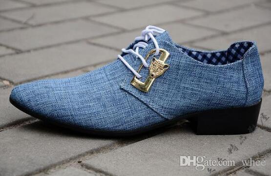 Nuevos Mocasines de cuero para hombre Zapatos de boda Zapatos de vestir negros Paño de algodón Hombres Mocasines Pisos de hombre Tallas grandes US 6.5-10 98