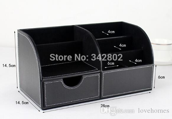 School & Office Supplies Desk Accessories & Organizer Pen Holder Leathechoose Material black and brown