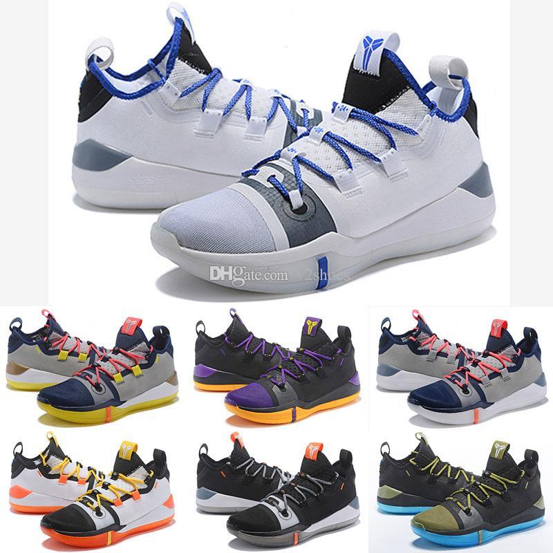 detailed look 71a71 24395 Großhandel Neue Ankunft 2018 Kobe AD Mamba Tag. D. EP Herren Basketball  Schuhe Top Qualität Segel Wolf Grau Orange Trainer Sport Turnschuhe Größe  40 46 Von ...