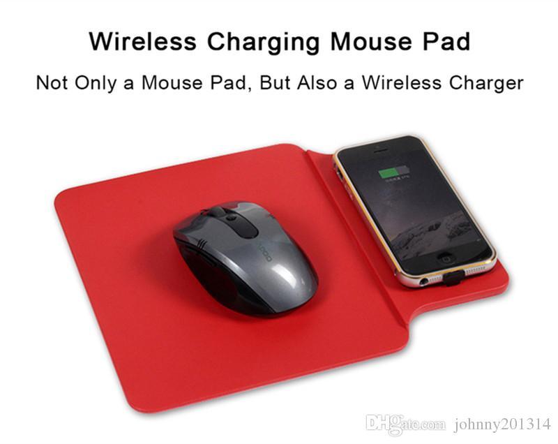 Nueva moda Qi Pad cargador inalámbrico para iPhone 8 X Samsung Note 8 S8 S7 Edge ordenador portátil ratón Pat Mat adaptador de carga