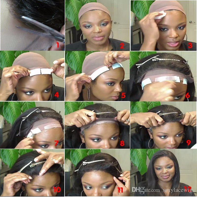 Livraison Gratuite Belle 1b # 6 # Noir Brun Profonde Perruques Bouclées avec des Cheveux de Bébé Résistant À La Chaleur Glueless Synthétique Lace Front Perruques pour les Femmes Noires