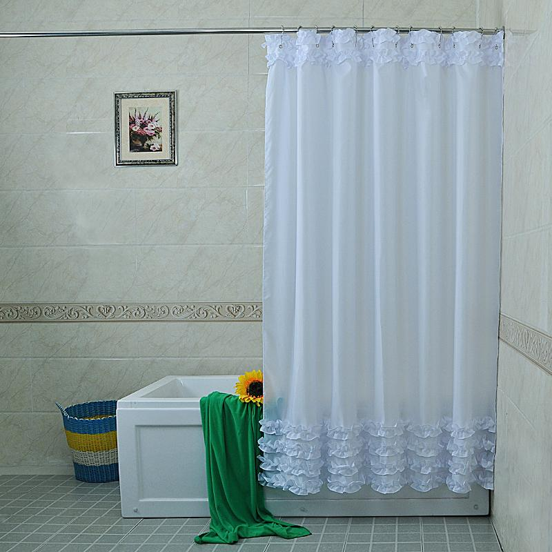 2019 Princess Lace Home Bathroom Shower Curtain Hotel Hook Or Double Pleated Waterproof Finished Crutain From Caley 4503