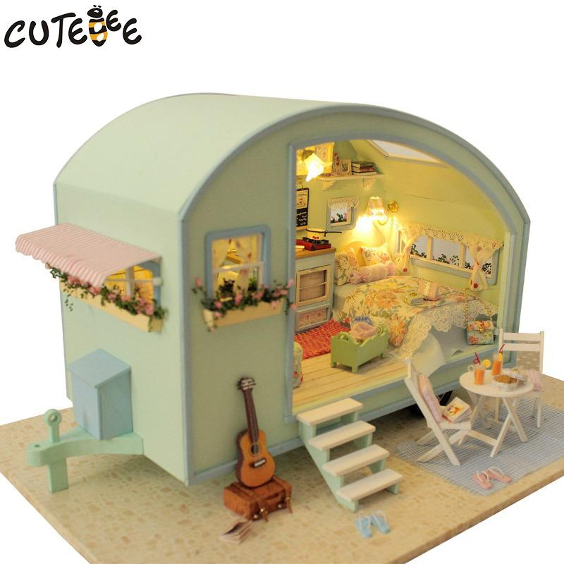 High Quality DIY Doll House Wooden Doll Houses Miniature Dollhouse Furniture Kit Toys  For Children Gift Time Travel Houses A 016 Toy Dollhouse Victorian  Dollhouses From ...