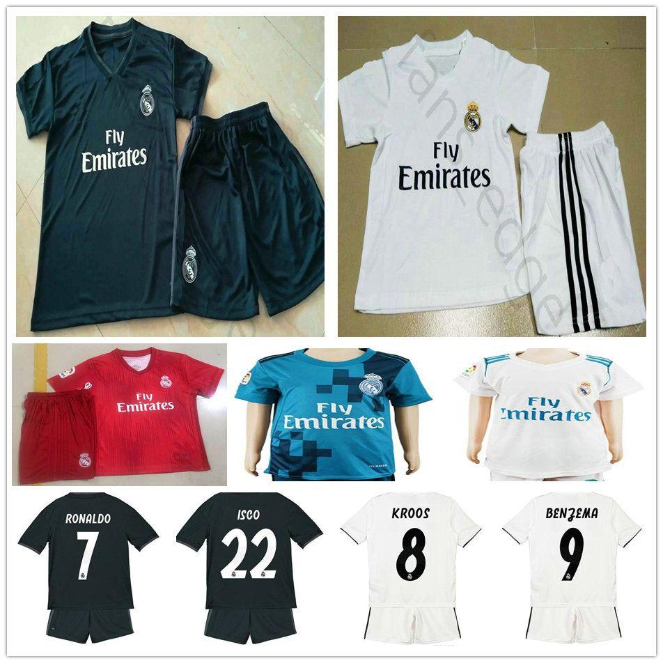 Youth Real Madrid Soccer Jerseys 10 MODRIC RONALDO BALE ISCO ASENSIO ... 946a55e0f