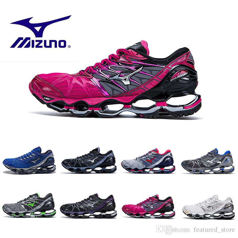 huge discount a8adb 63cdb New Arrival Mizuno Wave Prophecy 7 Men Designer Sports Running Shoes  Original High Quality Mizunos 7s Mens Trainers Sneakers Shoes Size36 45  Shoe Shops ...