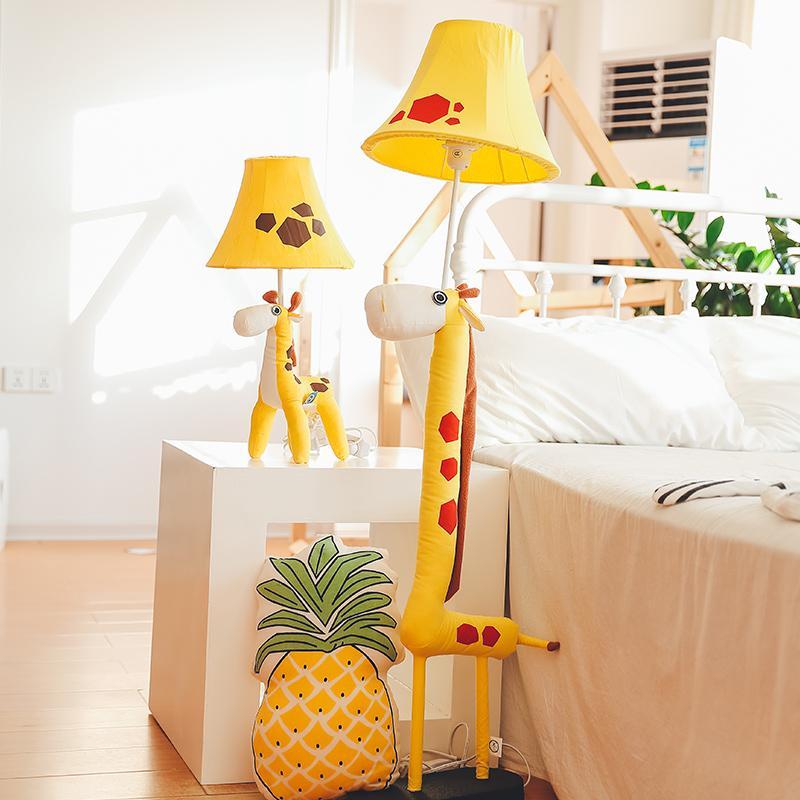 Acheter Cartoon Girafe Led Lampadaire Salon Chambre Lampe De Chevet