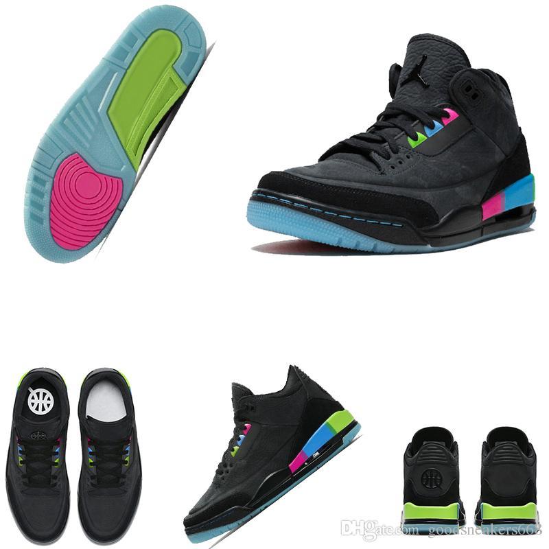 290b685e9fd1 New Release 3 Quai 54 3S Black Pink Blue Green Suede Paris Men Basketball  Shoes For Men Women Sneakers Size US 36 47 AT9195 001 Buy Shoes Online  Discount ...